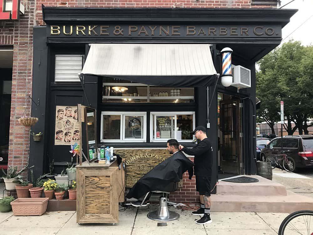 Burke & Payne Barber Co. outside
